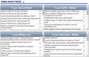 WNBA news feeds